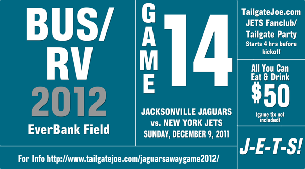 Jets Jaguars Tailgate Party