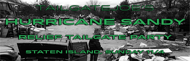 hurricane sandy relief tailgate party