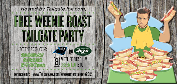 jets panthers free tailgate party