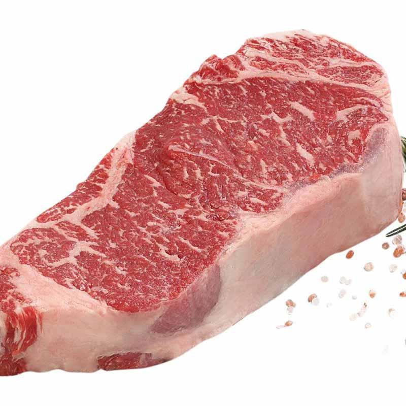 Spiced strip loin steak